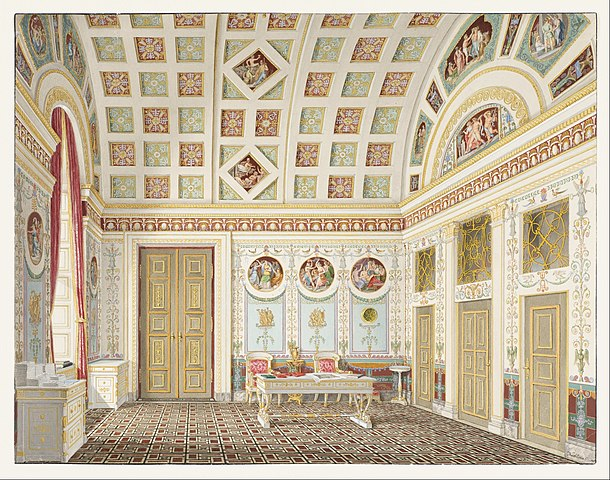 file franz xaver nachtmann the dressing room of king ludwig i at the munich residence palace. Black Bedroom Furniture Sets. Home Design Ideas