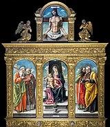 Frari (Venice) - Cappella Bernardo - Polyptych by Bartolomeo Vivarini.jpg