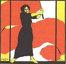 Frauentag 1914 Heraus mit dem Frauenwahlrecht (cropped).jpg