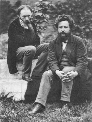 Photograph of Edward Burne-Jones (left) and Wi...