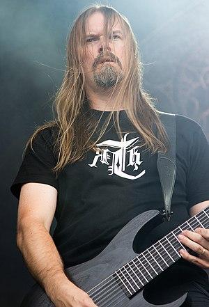 Meshuggah - Lead guitarist Fredrik Thordendal performing in 2012
