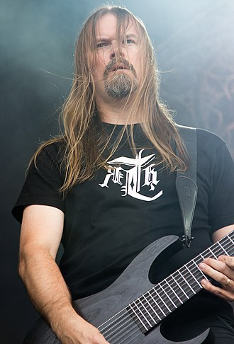 Meshuggah - Lead guitarist Fredrik Thordendal performing in 2012