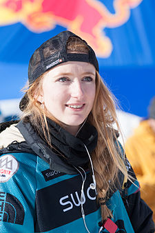 Estelle Balet bei der Freeride World Tour 2014 in Chamonix