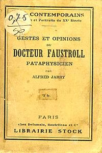 Exploits and Opinions of Dr. Faustroll, Pataphysician cover