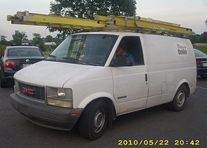 Bell TV - GMC Safari van from the old Bell ExpressVu era before becoming Bell TV