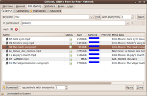 GNUnet with the GTK+ user interface