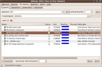 GNUnet - Image: GN Unet Screenshot