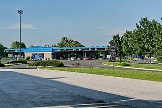 D3 road (Croatia) - Goričan border crossing, at the northern terminus of the D3 road