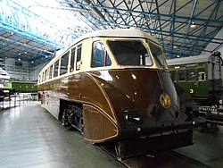 GWR railcar at York NRM, Aug 17.jpg