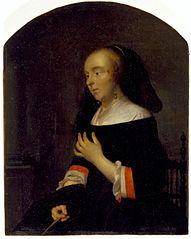 A Portrait of Metsu's Wife