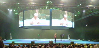 The Gadget Show - The live Super Theatre at Gadget Show Live 2013, featuring Jason Bradbury and Pollyanna Woodward