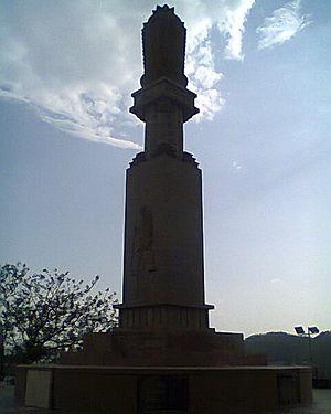 Gandhi Hill, Vijayawada - Gandhi memorial stupa