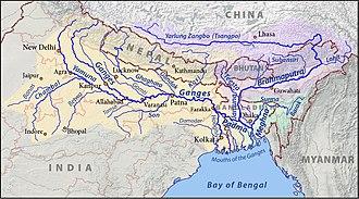 Brahmaputra River - Image: Ganges Brahmaputra Meghna basins