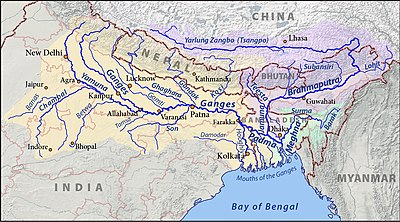 map of india with rivers