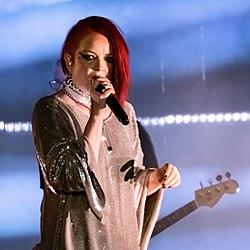 Manson joue avec Garbage en mai 2019