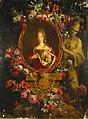 Gaspar Peeter Verbruggen (II) - Portrait of Maria Luisa of Savoy in the Frame Decorated with Flowers.jpg