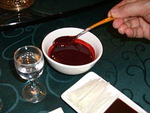 Gastronomia china-Sangre de serpiente9031.JPG