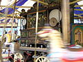 Gavioli 62 key trumpet barrel organ (1880s) Mr Fields Steam Circus, Hollycombe, Liphook 3.8.2004 P8030045 (10354107024).jpg