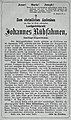 Gedenkblatt Landgerichtsrath Johannes Rübsahmen, Landtags-Abgeordneter für Stadt und Landkreis Düsseldorf, 1873.jpg