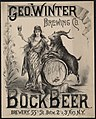Geo. Winter Brewing Co. bock beer. Brewery 55th St. betw. 2d & 3d Avs., N.Y. - Louis Kraemer N.Y. LCCN2005691059.jpg