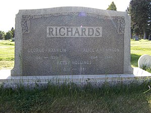 George F. Richards - Image: George F Richards Grave