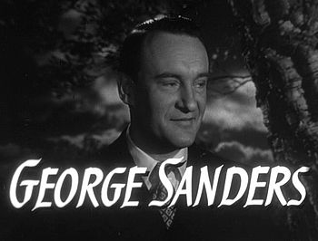 Cropped screenshot of George Sanders from the ...