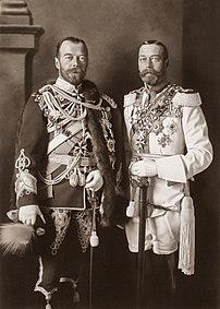 Nicolas II et George V en mai 1913. (définition réelle 3562×4995)