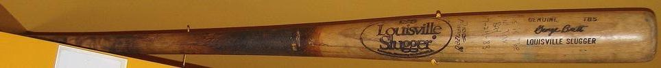 George brett pine tar bat rotated