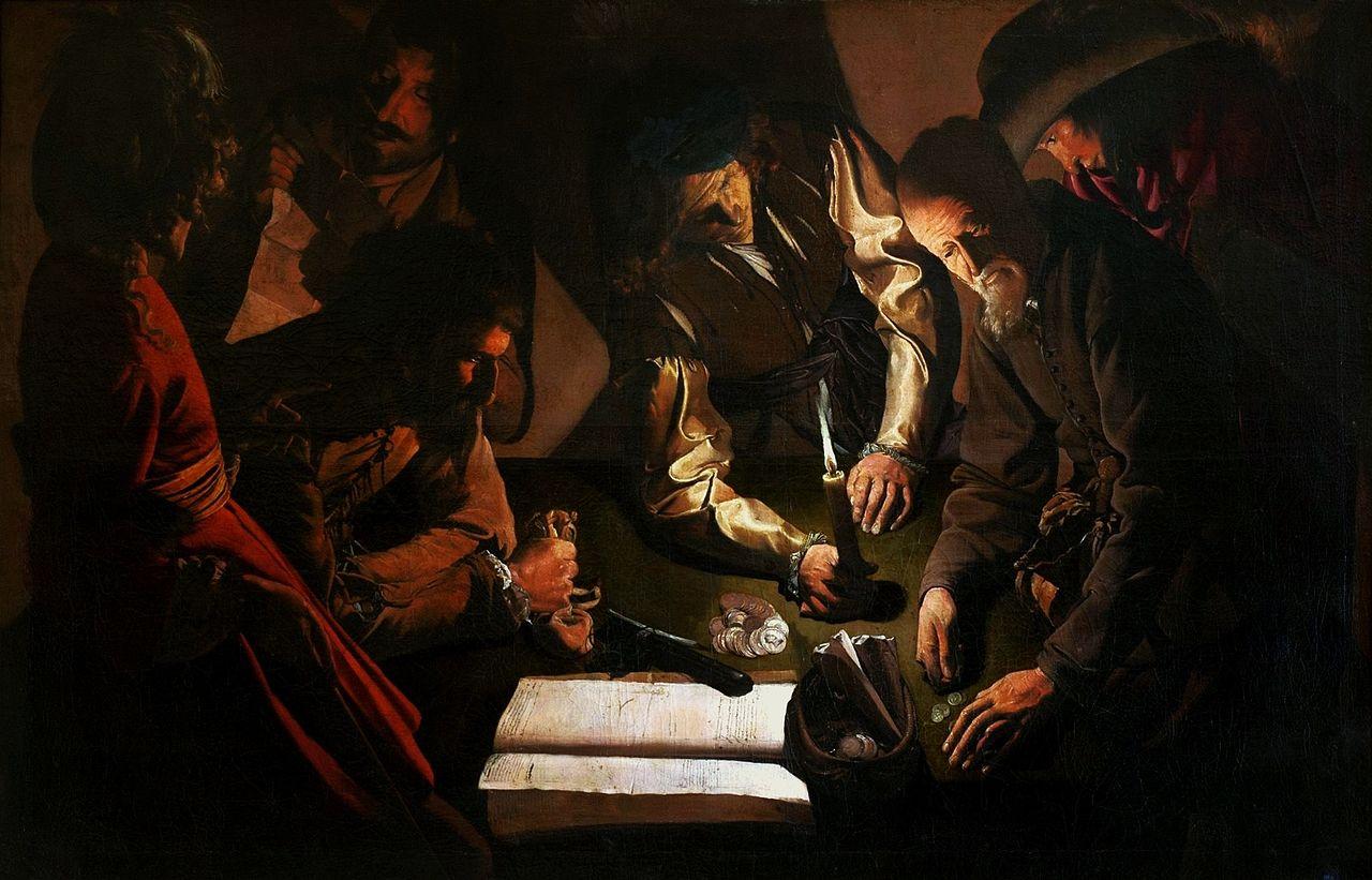 Georges de La Tour L'Argent verse Musée des beaux-arts de Lviv.jpg