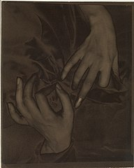 Georgia O'Keeffe – Hands and Thimble MET DP235214.jpg