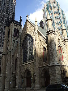 Gerald Farinas Chicago Cathedral of Saint James from South.jpg