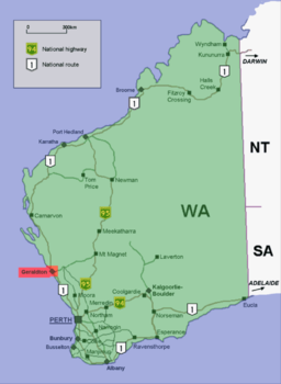 Geraldton location map in Western Australia.PNG