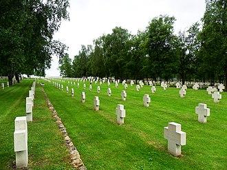German casualties in World War II - German War Cemetery in France