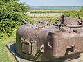 Geschutskoepel van een Sherman tank in het Kazematten museum.jpg