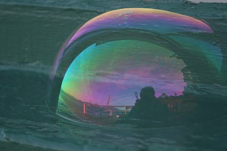 "Augustin-Jean Fresnel - Altered colors of skylight reflected in a soap bubble, due to thin-film interference (formerly called ""thin-plate"" interference)."