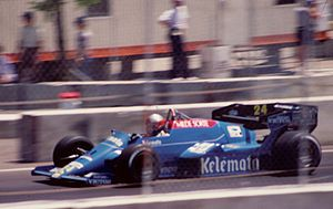 Piercarlo Ghinzani - Ghinzani achieved Osella's second and last points finish at the 1984 Dallas Grand Prix.