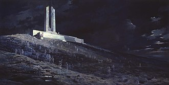 "Canadian Corps - Painting:""Ghosts of Vimy Ridge"""