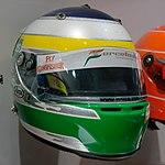 Giancarlo Fisichella 2008 helmet 2017 Museo Fernando Alonso.jpg