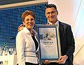 Gideon Saar giving Israel Prize to Pnina Klein D1139-119.jpg