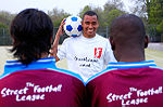 Gilberto Silva at a photo shoot for The Street League