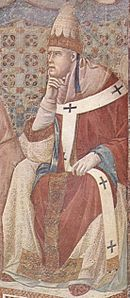 Late 13th century fresco of Pope Honorius III.