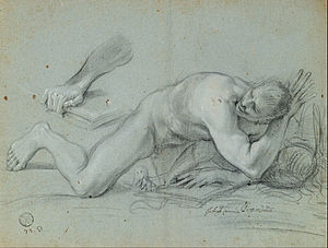Giovanni Angelo Canini - Study for a Fallen Angel