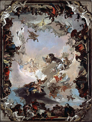 Italian Rococo art - Image: Giovanni Battista Tiepolo Allegory of the Planets and Continents