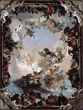 Italian Rococo art - Image: Giovanni Battista Tiepolo Allegory of the Planets and Continents