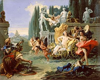 Fasti (poem) - Tiepolo's Triumph of Flora (ca. 1743), a scene based on the Fasti, Book 4