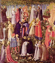 Il Cielo del Paradiso secondo Giovanni di Paolo (1440 circa), dimora di santi e beati.