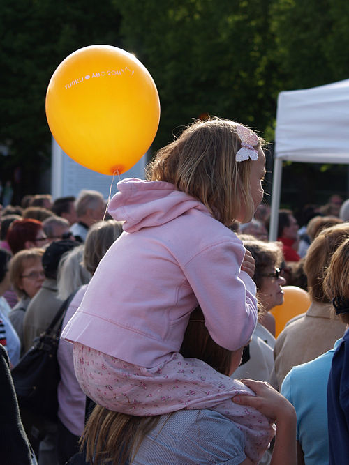 Girl at turku 2011 celebration