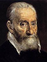 Giulio Clovio introdujo a el Greco en el círculo del cardenal Alejandro Farnesio en Roma. (Detalle de su retrato pintado por El Greco sobre 1571)