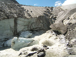 Mouth of the glacier Schlatenkees