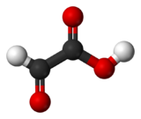 Ball-and-stick model of glyoxylic acid
